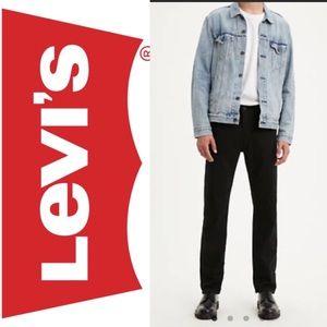 Levi's Mens Authentic 505 Straight Jeans Black